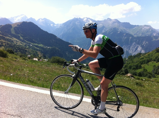 """Real men do recovery rides on Alpe d'Huez"""