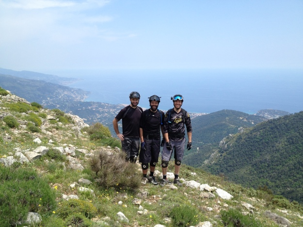 The boys line up - Above Menton on the French coast: Trans Provence June