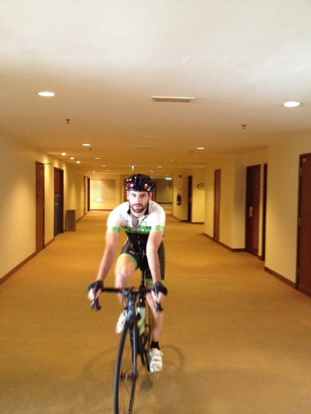 "KOM on the ""Super shit Hotel"" segment"