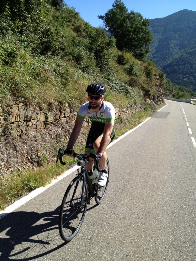 Involuntary Spanish climbing smile