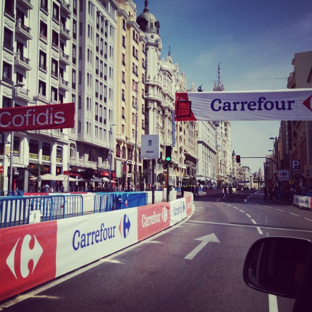 Yes, actually on the race route...